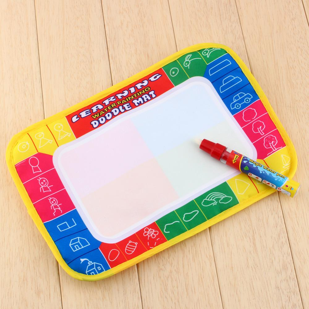 Free shipping XC8866 29X19cm 4 color Mini Water Drawing Mat Aquadoodle Mat 1 Magic Pen board/baby play Paint learning Notebook(China (Mainland))