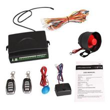 2016 new Universal Car Alarm Security System Siren Keyless Entry System Kit Remote Control Central Lock+ 2 Remote Controllers(China (Mainland))