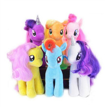 18cm Kawaii Cartoon Anime Figure Rainbow Little Horse Stuffed Doll Baby Plush Toys Juguetes Kids Toy Unicorn Brinquedos Doll