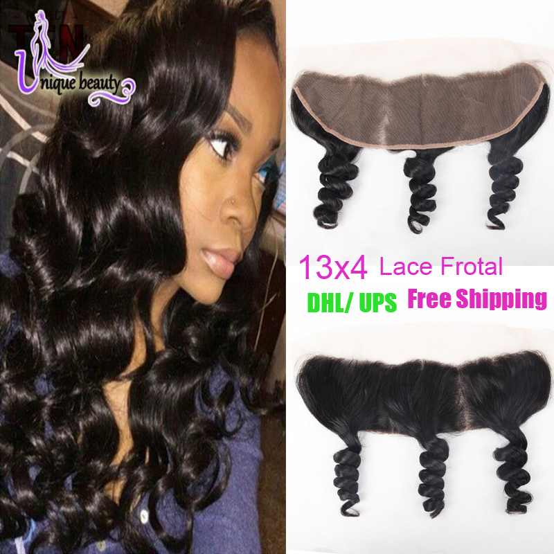 Фотография Top Quality Peruvian Loose Wave Lace Frontal Closure Spring Queen Hair Frontal Peruvian Virgin Hair Lace Frontal Free Shiping
