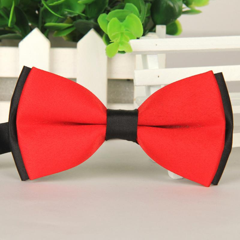 Brand New 2017 Bow tie polyester silk butterfly adjustable wedding bowtie bow ties for men 8 colors