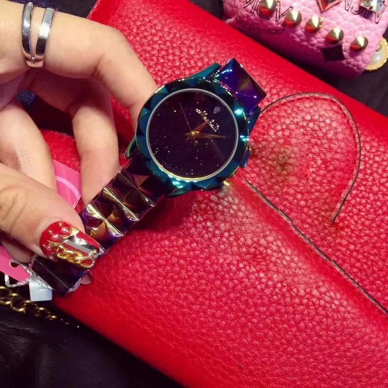 2016 Новый дизайн женщины супер флэш браслет Наручные часы Люксовый бренд из нержавеющей стали часы для женщин женский montre femme