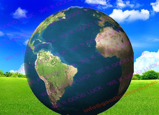 air earth model, sky advertising balloon, HB44-4--wholesale&retail/factory price(China (Mainland))