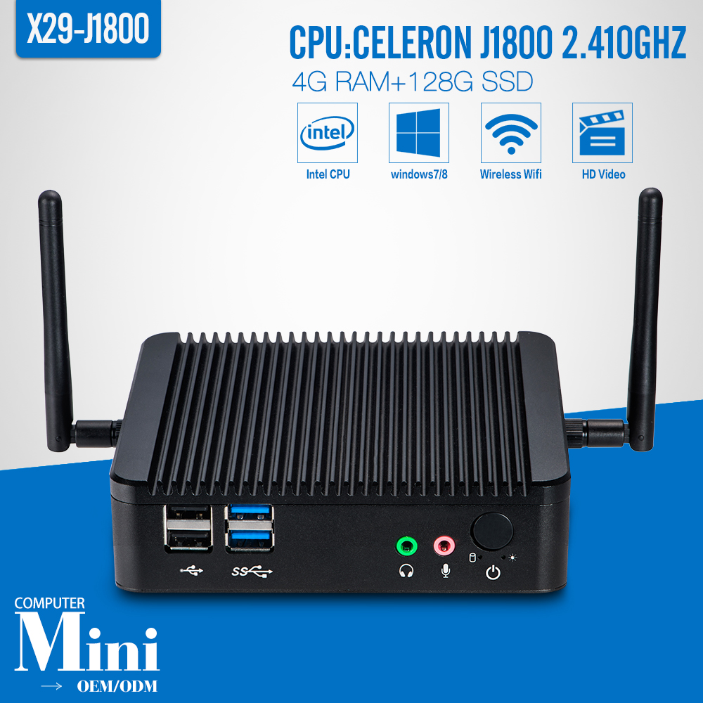 Mini PC ,Tablet Case ,J1800 ,DDR3 4G RAM,128G SSD,WIFI,HDMI,Fanless Motherboard ,Keyboard And Mouse ,Laptop Thin Client(China (Mainland))