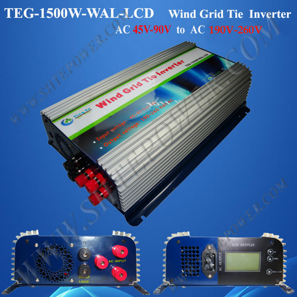 Pure Sine 72v Wind Turbine 1500W Grid Tie Inverter with AC 45-90v Input AC 190-260v Output(China (Mainland))
