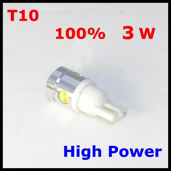 20PCS T10 W5W 4SMD LED Car Wedge Light 3W High Power White Lamp Bulb 250LM