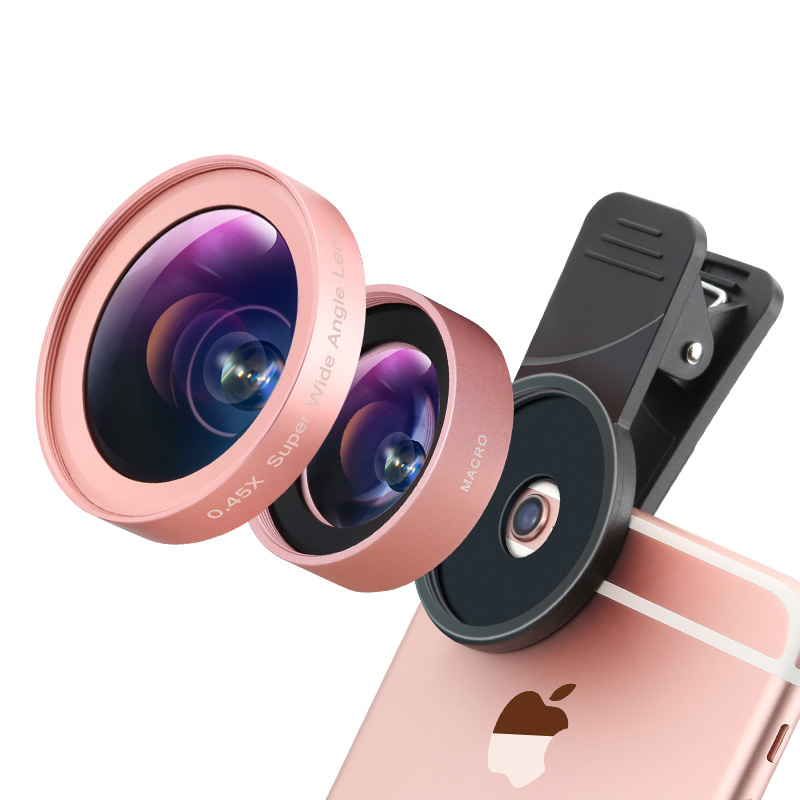 Professional 2 in1 0.45 Wide Angel 12.5x Macro Camera Lens Kit Universal for iPhone Mobile Phone lens(China (Mainland))