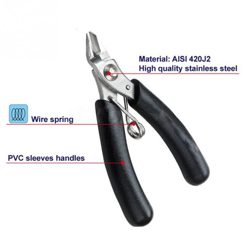 Electrical Micro Cutting Plier Wire Cable Cutter Side Snips Flush Pliers Tool -PD(China (Mainland))