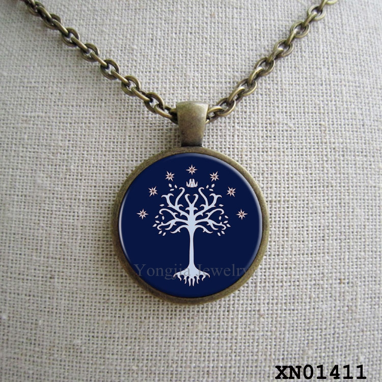 Lord Of The Rings Inspired Pendant, Gondor Tree Pendant, Movie Jewelry(China (Mainland))