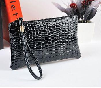 Women's Crocodile Leather Wristlet