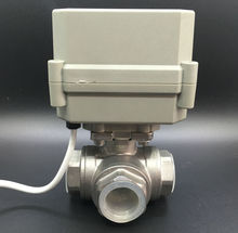 TF20-S3-C 3/4'' (DN20) Stainless Steel Electric Motorized Valve 3 Way T Type DC24V 2 Wires Water Automatic Control CE/IP67 - TF Tech store
