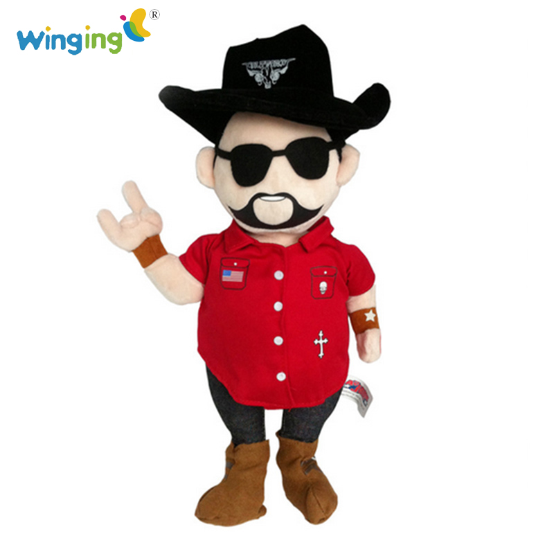 Boy Finger Toys Rock Singer Star Soft Stuffed Toy Man Singer Doll Character Models Baby Lively Red Plush Doll Toy for baby s58(China (Mainland))