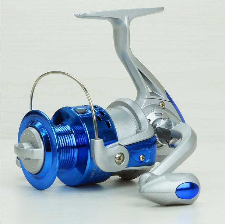 Fishing vessels SA1000-7000 series metal head Super hard aluminium alloy rocker arm silver and blue shaft spinning reels(China (Mainland))