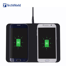 Buy Original Itian Q300 Dual Qi Wireless Charger Pad Transmitter Charging Station Quick-acting Charging Lightweight Smartphone for $18.55 in AliExpress store
