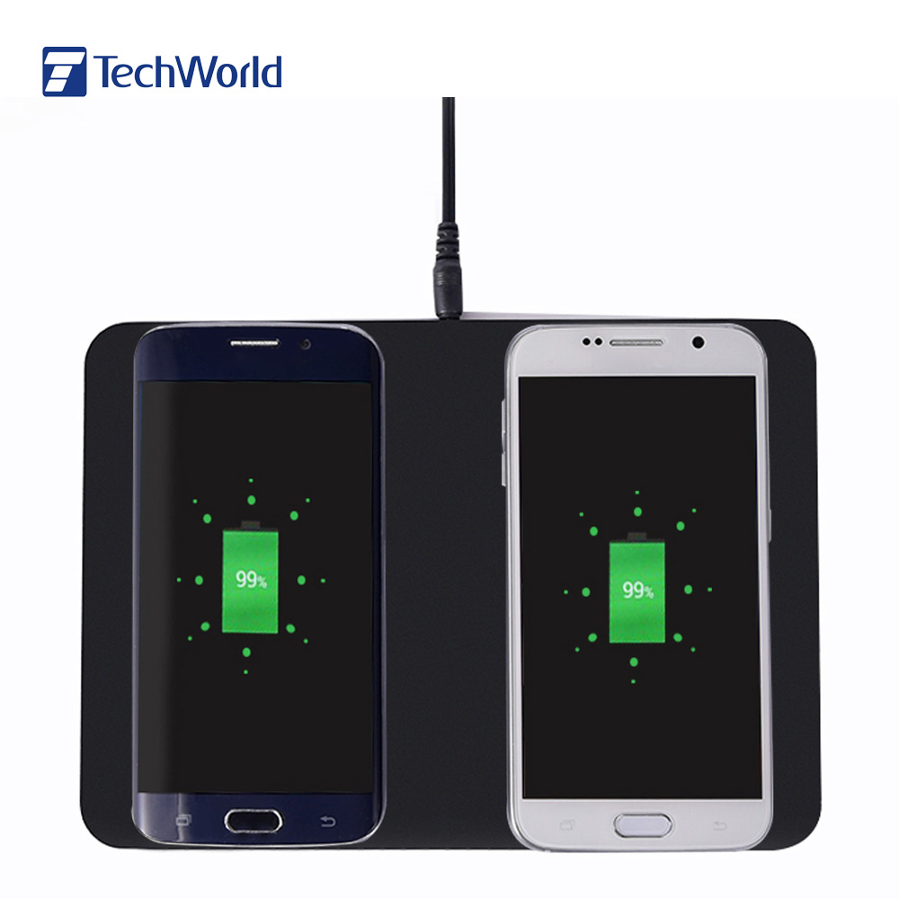 Original Itian Q300 Dual Qi Wireless Charger Pad Transmitter Charging Station Quick-acting Charging Lightweight for Smartphone(China (Mainland))