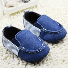 Denim Moccasins Baby Boys Cotton Navy Strip Loafers First walkers New Arrival Sapatos de bebe Menino Garcon Soft Shoes(China (Mainland))