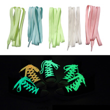 1 Pair New Luminous Shoelace Fluorescent Color Glowing Shoelace cordones zapatilla Shoe Laces For Canvas Sport Shoes Cheap Z1(China (Mainland))
