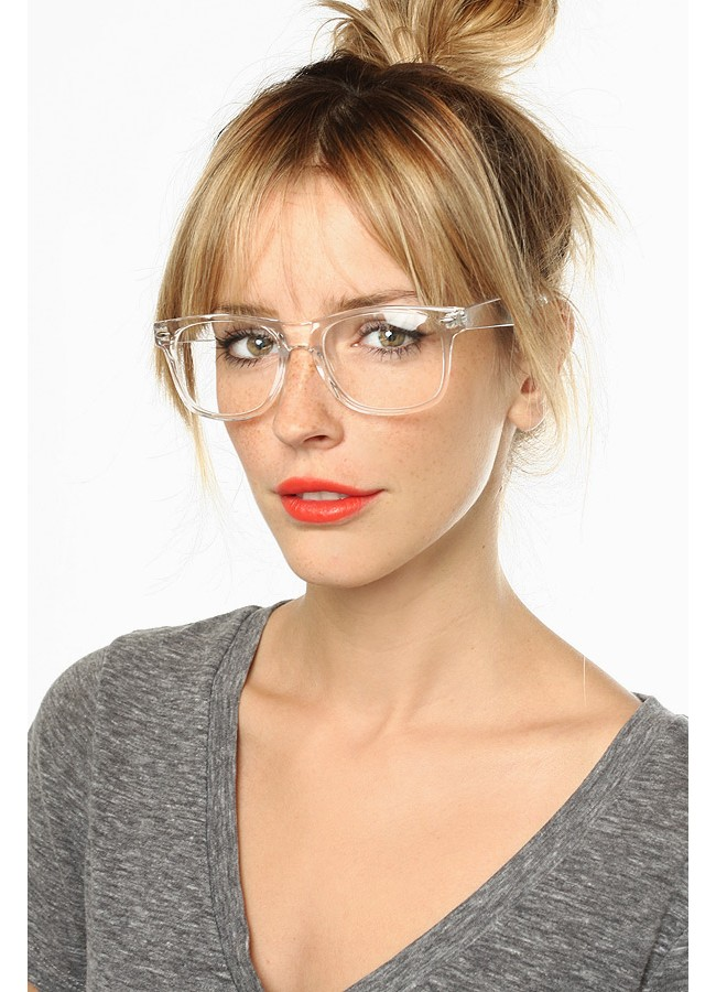 2018 Wholesale Crystal Square Transparent Glasses Classic Clear ...