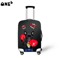 2016 ONE2 Design dog printing suitcase cover apply to 22 24 26 inch suitcase ergonomic fashion