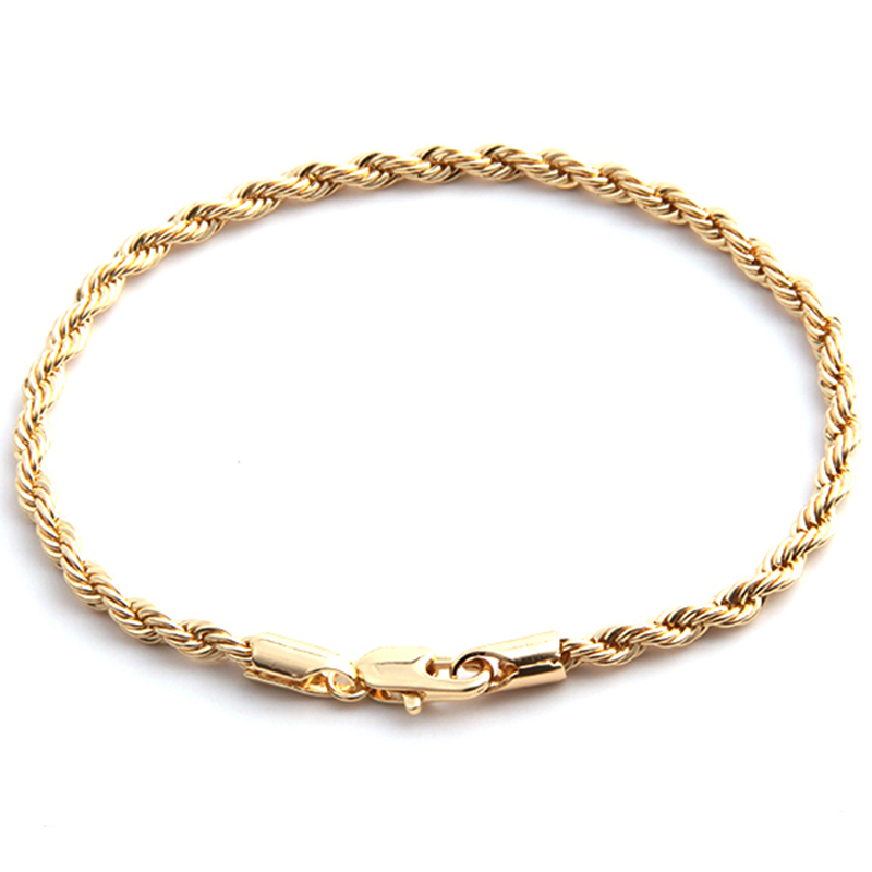 golden color Jewelry Link twisted snake Chain Concise Elastic Bracelets for Women Curb Chain Link Cuff Bracelet CX676985(China (Mainland))