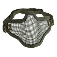 New Adjustable Strike Steel Mesh Airsoft Half Mask Face Protector Green CLSK