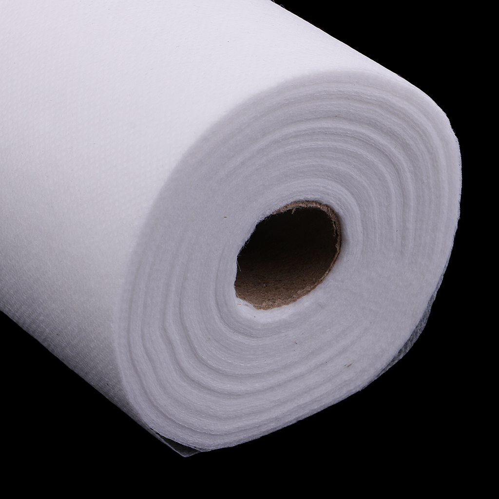 50 Sheets Non-Woven Headrest Paper Roll Spa Salon Massage Bed Table Cover Tattoo Supply- 50x70cm, White