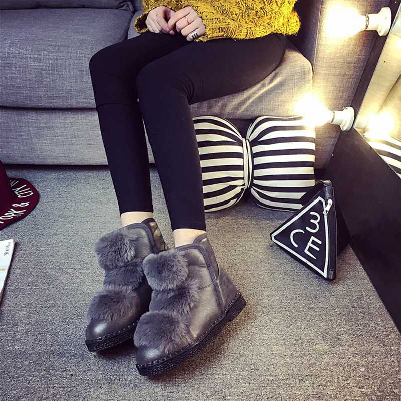 Ankle Boot Womens Shoes Booties Snow Platform Womens Boots Winter 2015 Female Footwear Zapatos Mujer Brand Shoes Ankle Boots(China (Mainland))