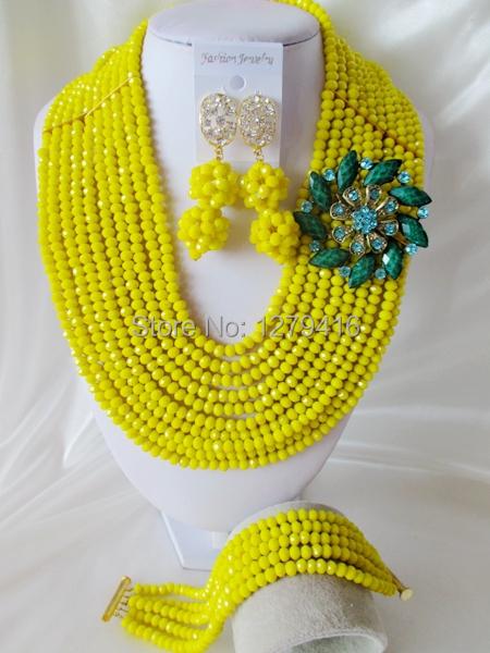 Fashion Nigerian African Wedding Beads Jewelry Set , Crystal Necklace Bracelet Earrings SetC1967<br><br>Aliexpress