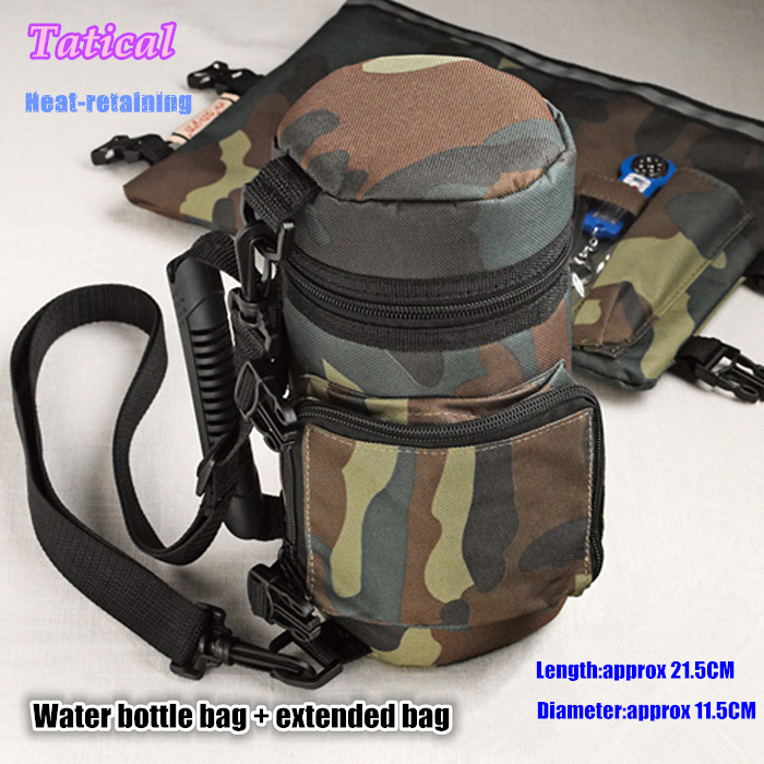Cool fashion Israel military outdoor insulated tactical water bottle bag molle kettle bag 2 colors(China (Mainland))
