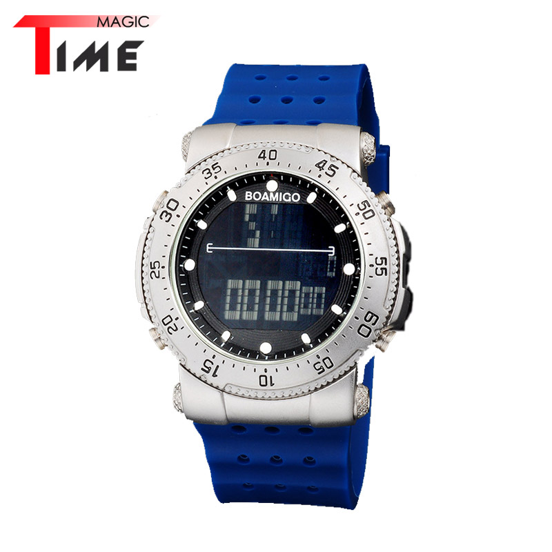 [Time Magic] Digital-Watch Classic Silicone Band Led Display Outdoor Mens Military Watches Sport Multifunction Wristwatch<br><br>Aliexpress