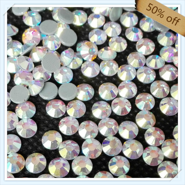 China post air mail FREE SHIPPING size ss16 4mm CRYSTAL AB color with 1440 pcs each pack ; diamond stone for leotards(China (Mainland))
