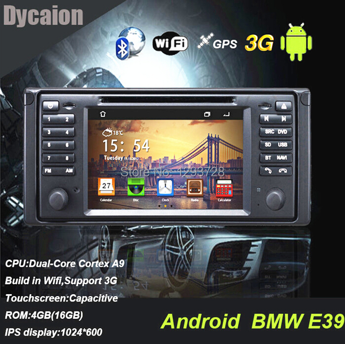 """Double din 7"""" car stereo system for bmw e39(China (Mainland))"""