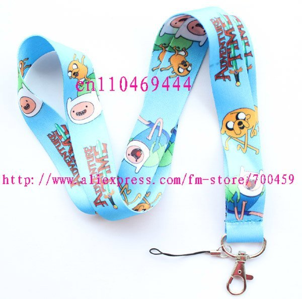1pc ADVENTURE TIME Mobile Phone LANYARD Neck Strap Charms