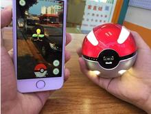 NEW Action Figures Pokemon Go pokeball Power Bank 10000mA Chager With LED Light For Pokemon Go AR Game