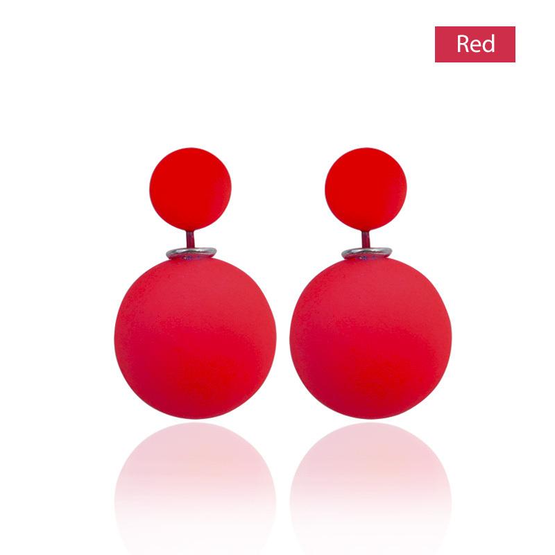 E023 New Fashion Hot Selling Fine Jewelry Earrings 2015 Double Sided Pearl (18mm) Stud Earrings Women Big Pearl Earrings #826(China (Mainland))