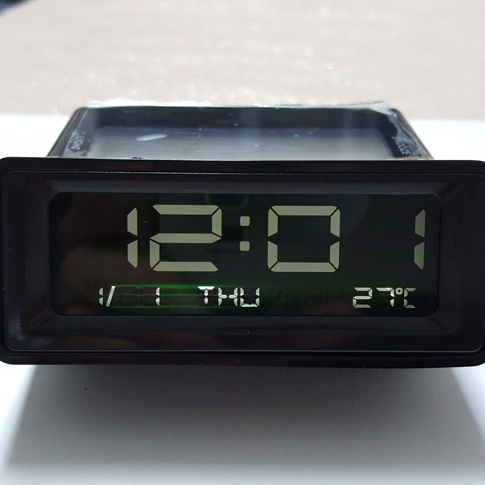 free shipping auto interior decoration car new creative electronic clock temperature gauge. Black Bedroom Furniture Sets. Home Design Ideas