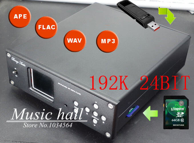 Music Hall Support SD card/USB Digital turntable Lossless music player APE WAV MP3 DAC HIFI 110~240V<br><br>Aliexpress