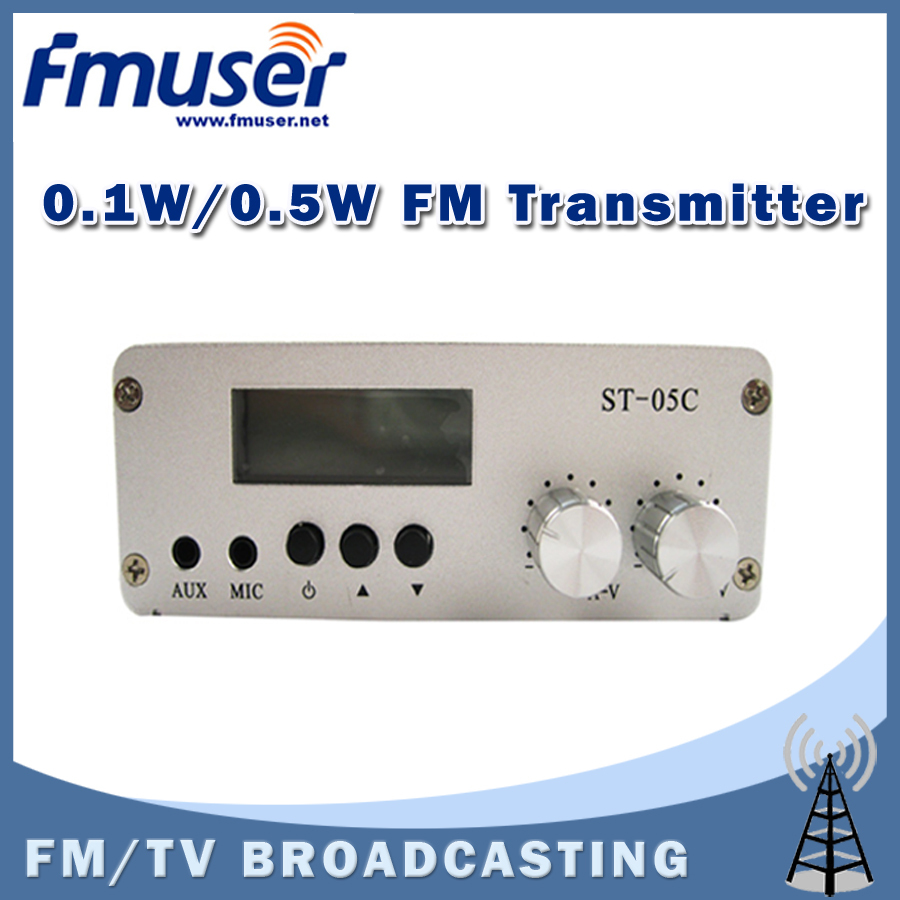 Free Shipping FMUSER ST-05C 0.1W/ 0.5W FM transmitter Stereo PLL Radio Broadcast USB Charge(China (Mainland))