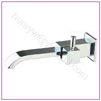 Retail - Luxury Brass Cold Water Faucet, Wall Mounted Basin Tap, Square Cold Faucet, Free Shipping L15618