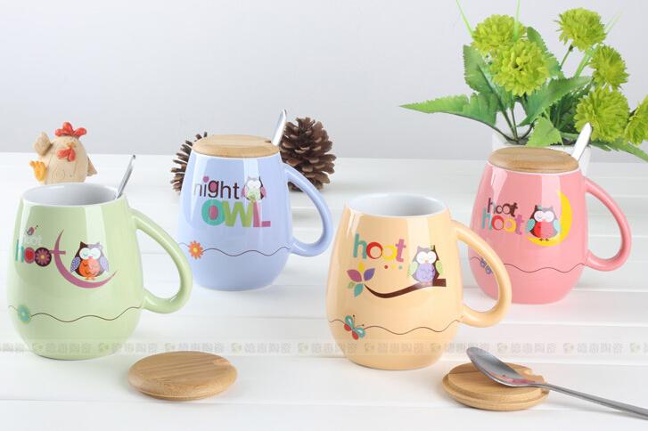 60 pcs/lot free shipping mugs Coffee Cup tea cup Novelty Gift C-4150 300ml(China (Mainland))