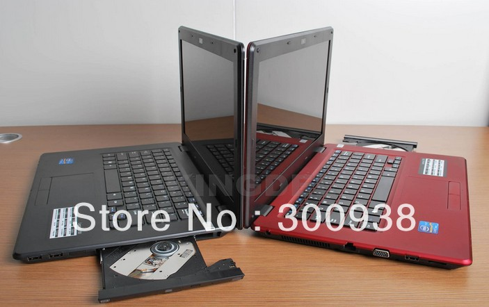 Freeshipping cheap laptop thin notebook compuer 14 inch with intel D2500 4GB DDR3 Ram 500GB HDD Built in WIFI DVD-ROM(Hong Kong)