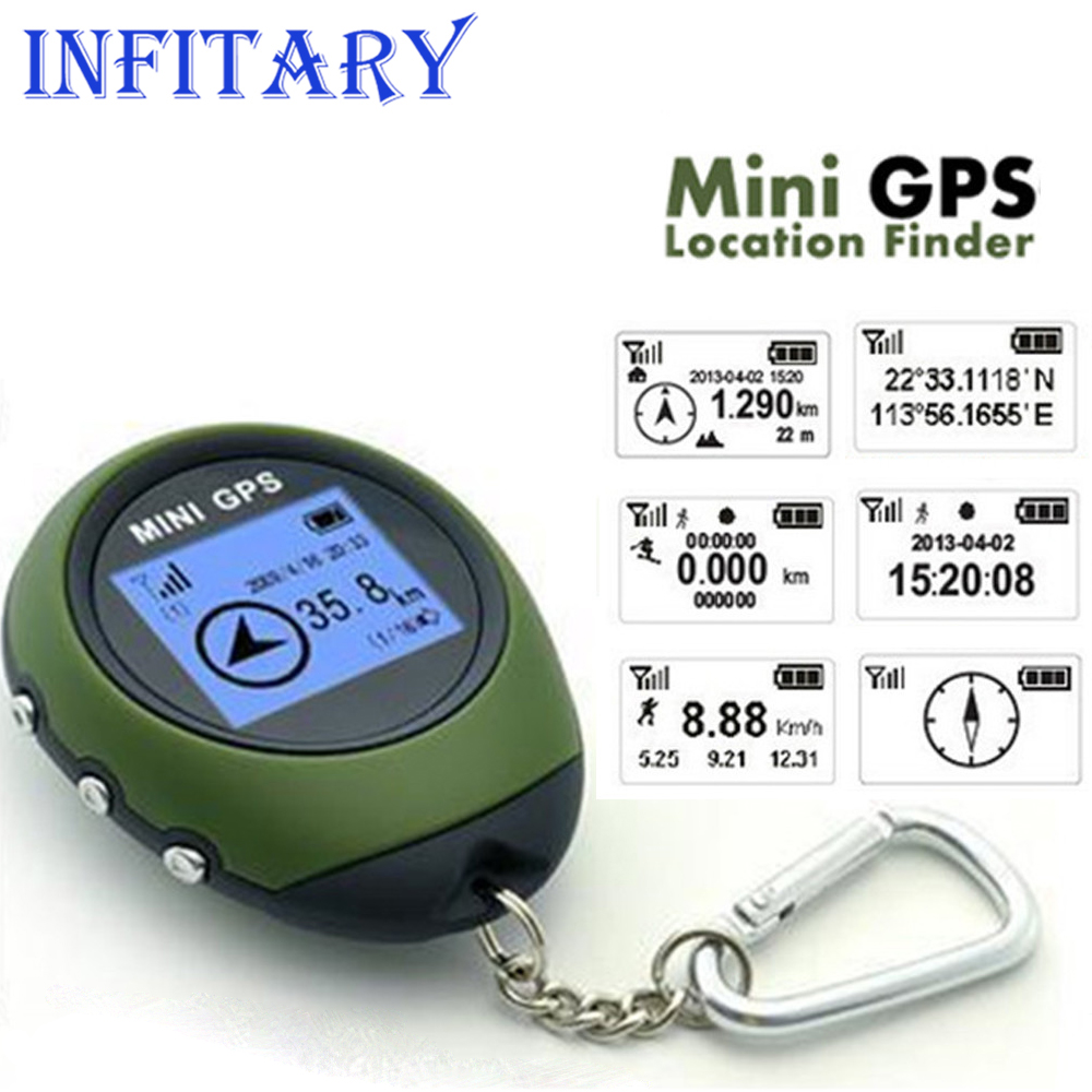 Outdoor Sport Handheld Keychain Mini GPS USB Rechargeable With Compass mini GPS/GSM/GPRS Car Vehicle Tracker For Car Accessory(China (Mainland))
