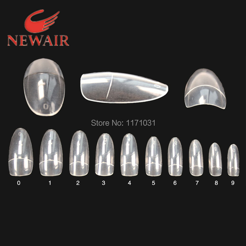 Oval Clear Nail Tip 10 Sizes and Modern French False Nail Tips for Salon DIY Nail Art Design Free Shipping Love Fashion Manicure(China (Mainland))