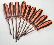 9 unid/set CR-V aislado electricista cruz ranurado destornillador juego de herramientas Kit con el bolso