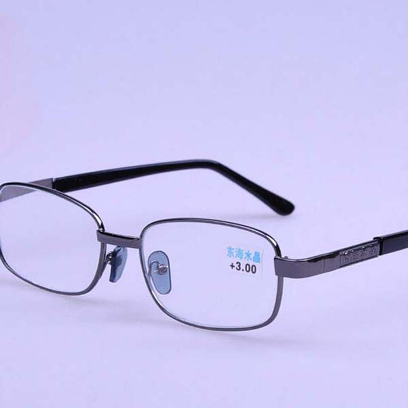 Gray Frame Reading Glasses : Metal Gray Frame Classic Mens Womens Reading Glasses ...