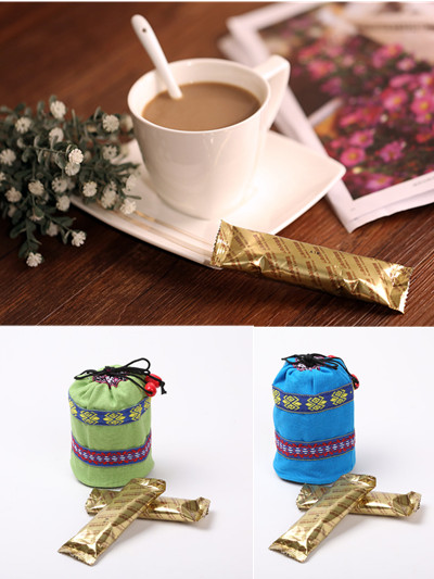 Free shipping coffee for tassimo women s embroidery handbags packing yunnan instant coffee tea 16g 5pcs
