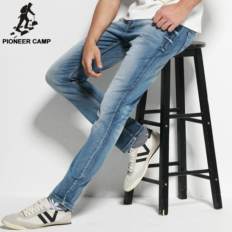 Pioneer Camp Free Shipping 2016 Summer Style New Fashion Mens Jeans Elastic Jeans Casual Cotton