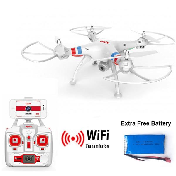 Syma X8W Explorers WiFi FPV Drone Headless Mode RC Quadcopter with Camera RTF 2 4GHz Extra