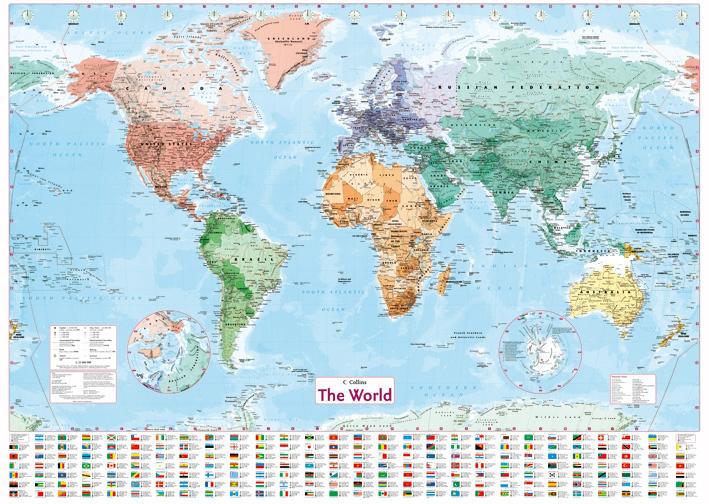 Free shipping english world map home decor wallpaper wall for Home wallpaper world map