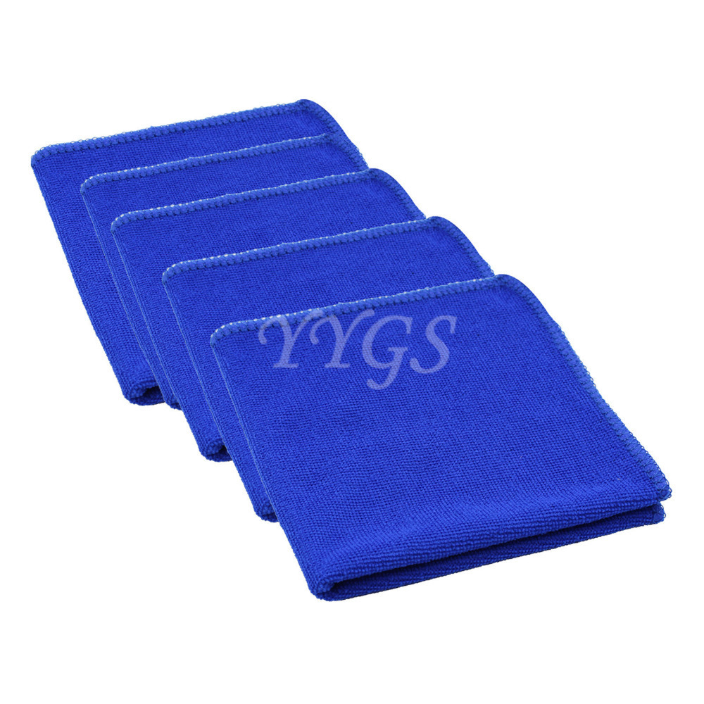 5 piece Car Microfiber Square Luxury Soft Fiber Face/Hand Car Colth Cleaning Dry Wash Wipe Towel House Clean Magic 30x30cm(China (Mainland))